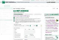 écran de création de compte la net agence